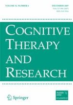 Cognitive Therapy and Research 6/2007