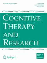 Cognitive Therapy and Research 2/2008