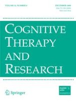 Cognitive Therapy and Research 6/2008