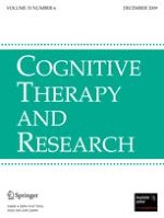Cognitive Therapy and Research 6/2009
