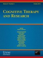 Cognitive Therapy and Research 5/2013
