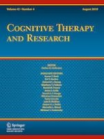 Cognitive Therapy and Research 4/2019