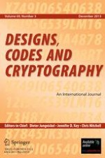 Designs, Codes and Cryptography 3/2005