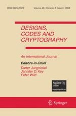 Designs, Codes and Cryptography 3/2008