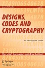 Designs, Codes and Cryptography 1/2014