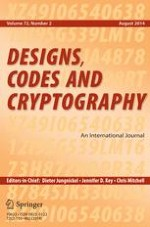 Designs, Codes and Cryptography 2/2014