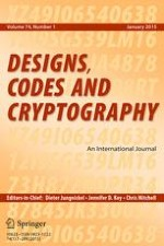 Designs, Codes and Cryptography 1/2015
