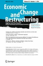 Economic Change and Restructuring 1/2016