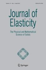 Journal of Elasticity 2/2013