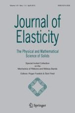 Journal of Elasticity 1-2/2015