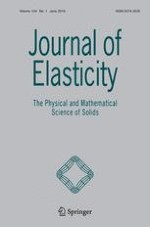 Journal of Elasticity 1/2016