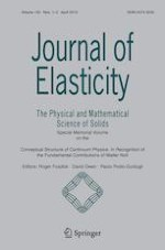 Journal of Elasticity 1-2/2019