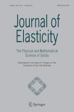 Journal of Elasticity 1/2019
