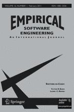 Empirical Software Engineering 1/2011