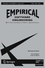 Empirical Software Engineering 4/2011