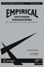 Empirical Software Engineering 4/2013