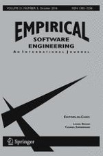 Empirical Software Engineering 5/2016