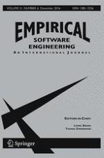 Empirical Software Engineering 6/2016