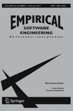 Empirical Software Engineering 1/2017
