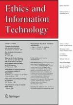 Ethics and Information Technology 3/2018