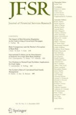 Journal of Financial Services Research 2-3/2020