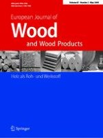 European Journal of Wood and Wood Products 2/2009
