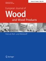 European Journal of Wood and Wood Products 3/2018