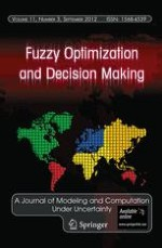 Fuzzy Optimization and Decision Making 3/2012