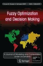 Fuzzy Optimization and Decision Making 3/2009