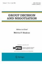 Group Decision and Negotiation 4/2006