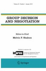 Group Decision and Negotiation 1/2015