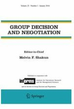 Group Decision and Negotiation 1/2016