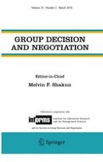 Group Decision and Negotiation 2/2016