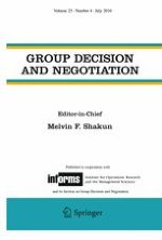 Group Decision and Negotiation 4/2016