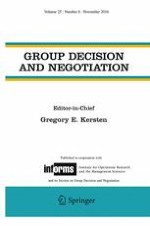 Group Decision and Negotiation 6/2016