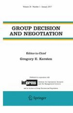 Group Decision and Negotiation 1/2017