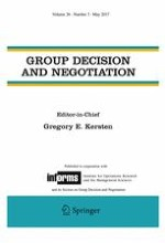 Group Decision and Negotiation 3/2017