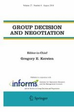 Group Decision and Negotiation 4/2018