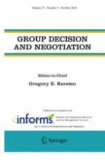 Group Decision and Negotiation 5/2018