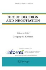 Group Decision and Negotiation 3/2019