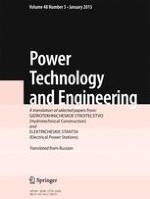 Power Technology and Engineering 5/2015