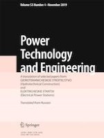 Power Technology and Engineering 4/2019