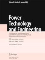 Power Technology and Engineering 5/2020