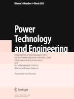 Power Technology and Engineering 6/2021