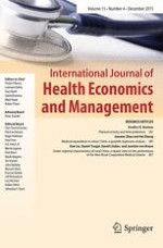 International Journal of Health Economics and Management 4/2015