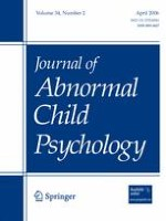 Journal of Abnormal Child Psychology 2/2006