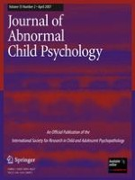 Journal of Abnormal Child Psychology 2/2007