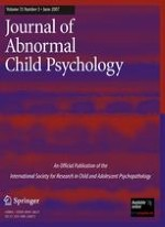 Journal of Abnormal Child Psychology 3/2007