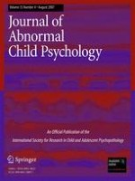 Journal of Abnormal Child Psychology 4/2007