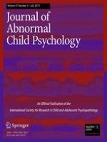 Journal of Abnormal Child Psychology 5/2013